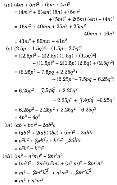 NCERT Solutions for Class 8 Maths Algebraic Expressions and Identities Ex 9.5 Q4.2