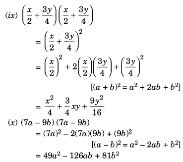 NCERT Solutions for Class 8 Maths Algebraic Expressions and Identities Ex 9.5 Q1.3