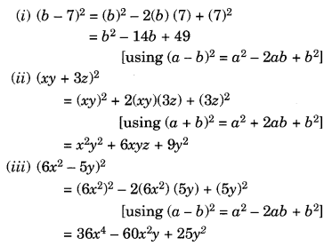 NCERT Solutions for Class 8 Maths Algebraic Expressions and Identities Ex 9.5 Q3