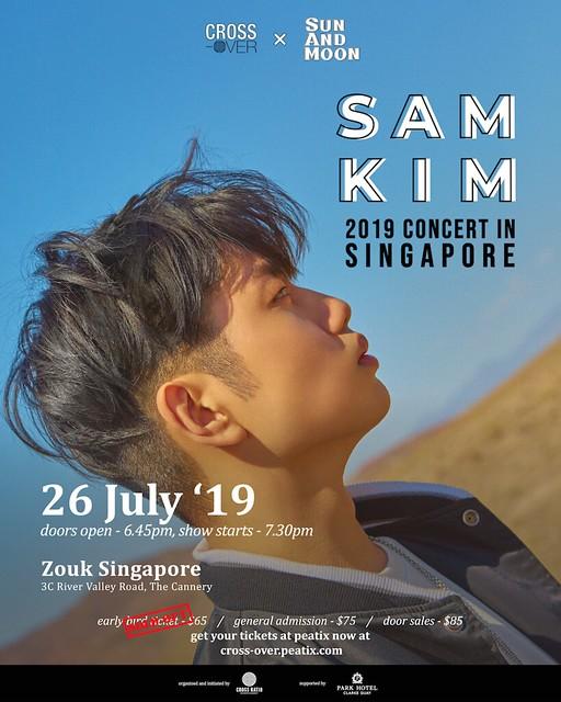 Sam Kim 2019 Concert in Singapore