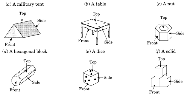 NCERT Solutions for Class 8 Maths Chapter 10 Visualising Solid Shapes Q4