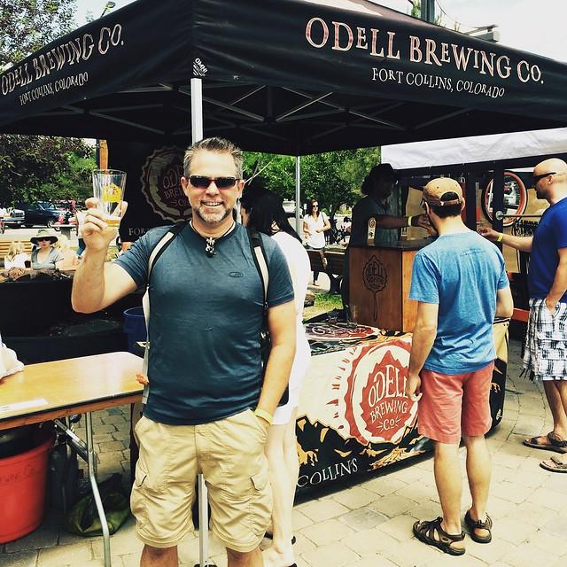 J.D. enjoying a beer in Idaho