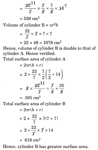 NCERT Solutions for Class 8 Maths Mensuration Ex 11.4 Q2.1