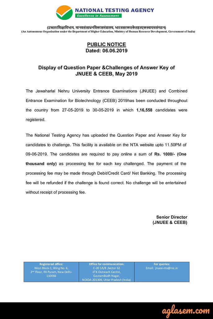 Admission papers for sale jnu