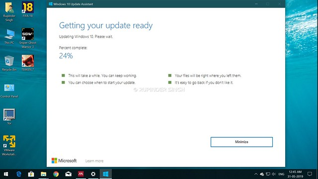 Windows 10 Upgrade Window 1