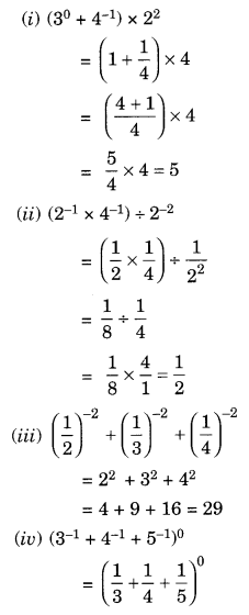 NCERT Solutions for Class 8 Maths Chapter 12 Exponents and Powers Q3.1