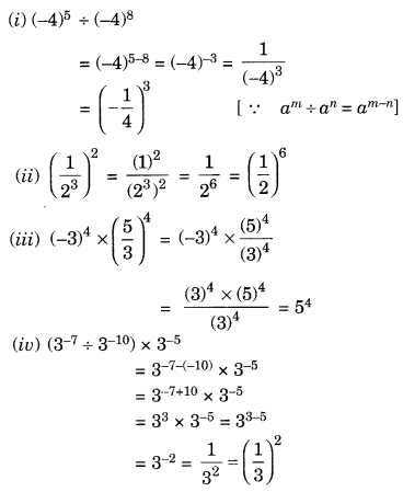 NCERT Solutions for Class 8 Maths Chapter 12 Exponents and Powers Q2.1
