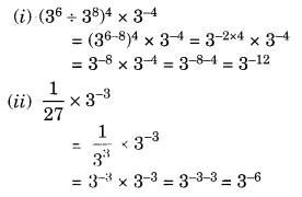 Exponents and Powers Class 8 Extra Questions Maths Chapter