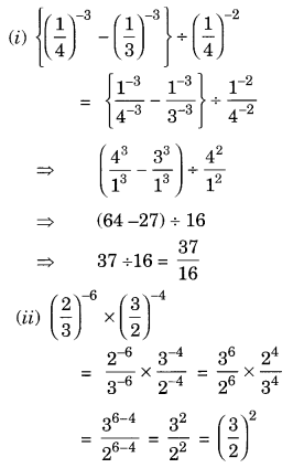 Exponents and Powers Class 8 Extra Questions Maths Chapter 12 Q8.1