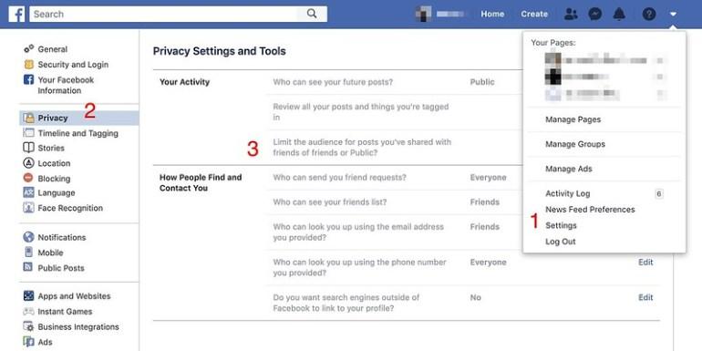 Facebook ก็เปลี่ยนสถานะ จำกัดสิทธิ์ของคนที่เข้าถึง