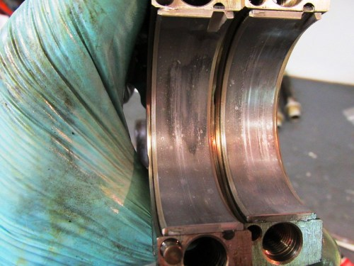 Right Side Bearing Shell Halves-Some Worn Areas
