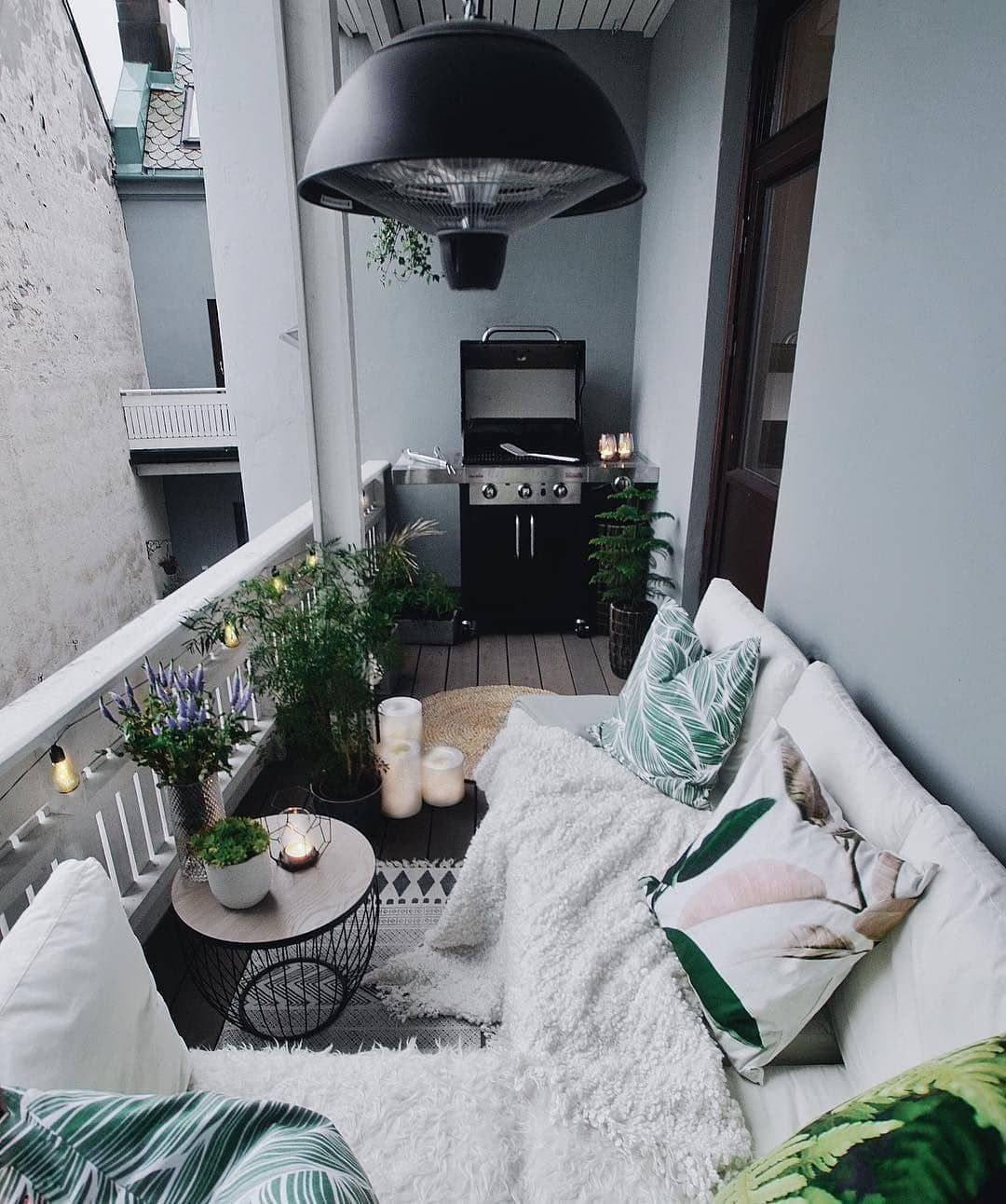 The Best Decorated Small Outdoor Balconies on Pinterest ... on Apartment Backyard Patio Ideas  id=23767