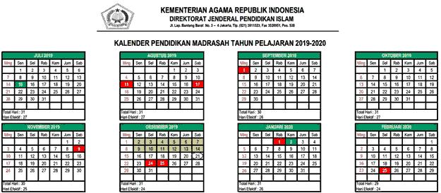 kalender-pendidikan-madrasah-2019