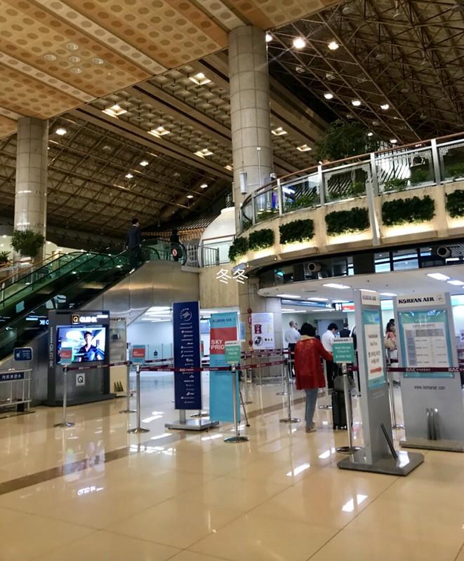 金浦空港 カウンター