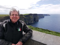 Capelli al vento a Cliff of Moher ROTFL