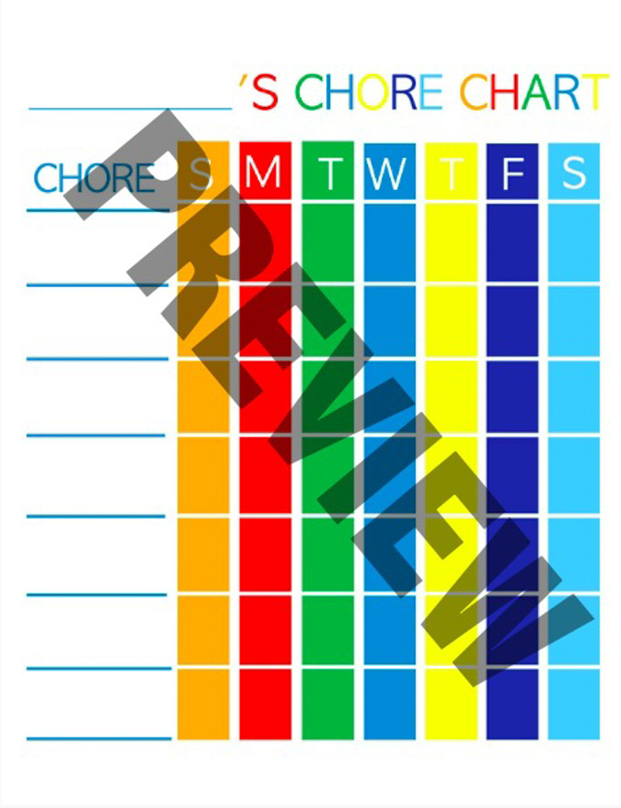This free printable chore chart for kids comes in two color schemes and is so cool! Easy to customize with the chores you want, and perfect for preschoolers or elementary school-ages!