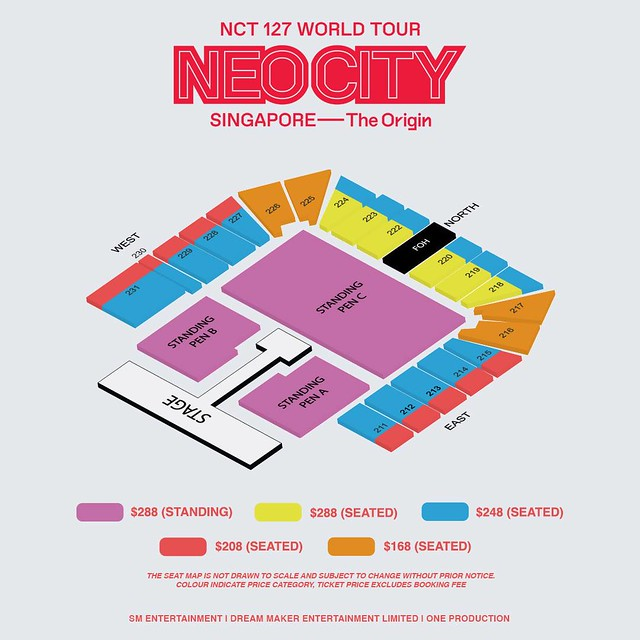 NCT 127 NEO CITY - The Origin in Singapore Seating Plan