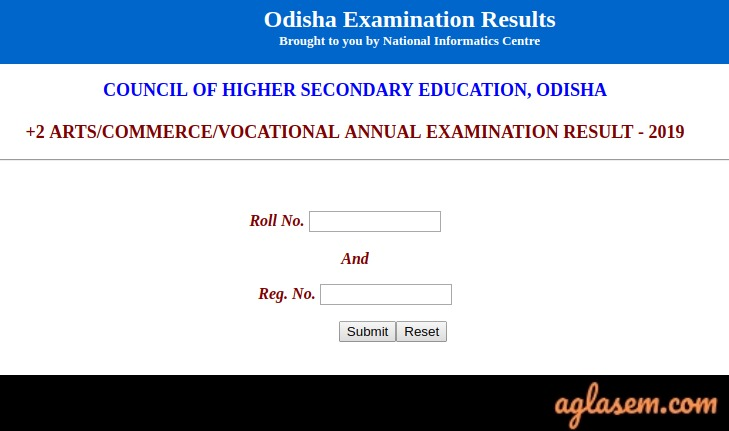Odisha +2 Commerce Result 2019