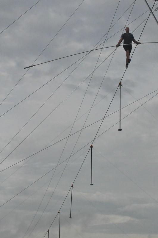 Nik Wallenda and Lijana Wallenda Practiced at Nathan Benderson Park, Sarasota, Fla., June 13, 2019, for Their NYC Times Square High Wire Walk