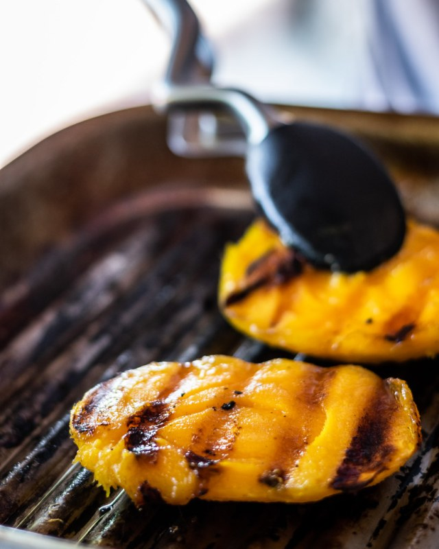 brush the grill with oil first to prevent sticking