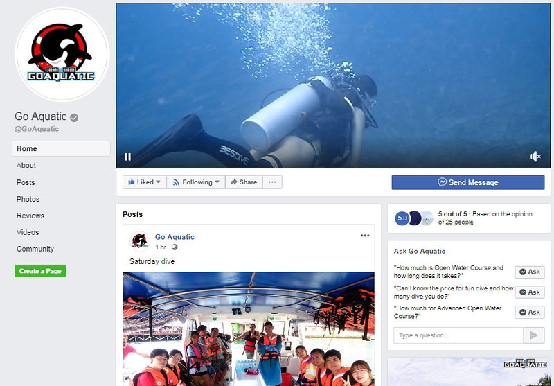 Kota Kinabalu Diving - Go Aquatic On Facebook