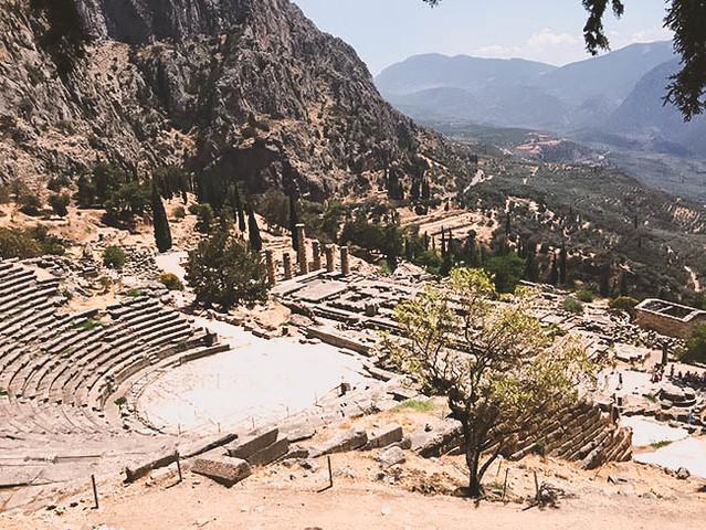 · Teatro de Delfos · Oráculo de Delfos · Grecia · Click_Trip ·