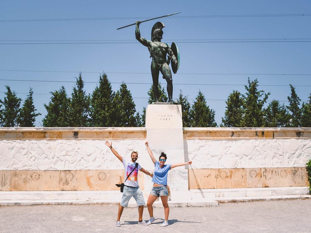 · Monumento al Rey Leónidas, Termópilas ·