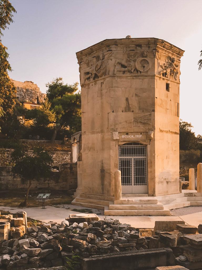 · Qué ver en Atenas · Torre de los vientos, ágora romana de Atenas ·