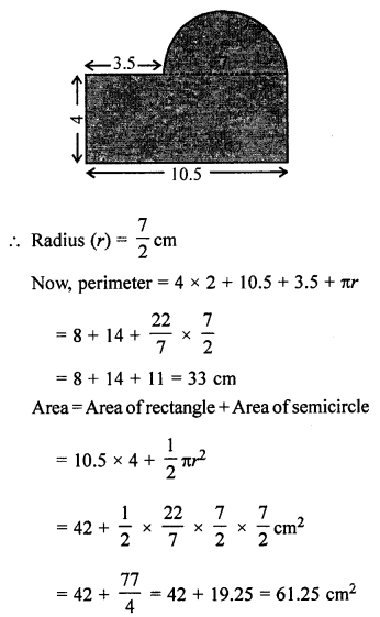 ML Aggarwal Class 7 Solutions for ICSE Maths Chapter 16 Perimeter and Area Ex 16.3 Q20.1
