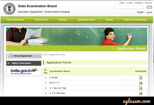 Gujarat TET Application Form 2020