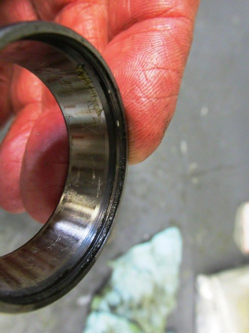 Bearing Outer Race Showing Evidence of Brinneling