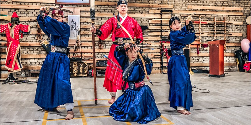 韓國全羅南道景點   靈巖氣武藝道場-體驗韓式古裝服飾,欣賞霸氣的武術表演,好看又有趣的韓國體驗秀。