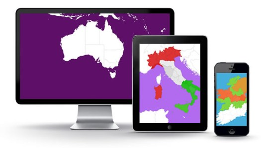 Fully Responsive Cross Device Browser Compatible Interactive Maps