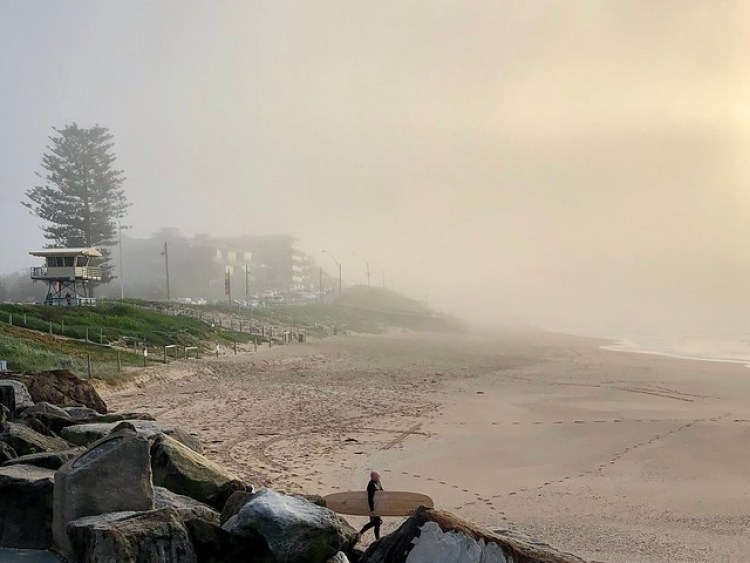 Foggy and freezing - still surfing