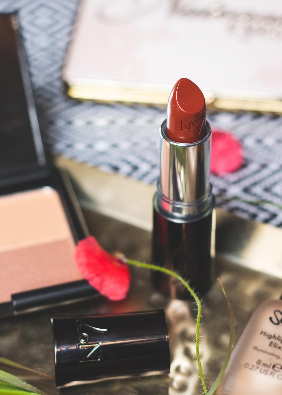No7 Moisture Drench Lipstick in Nutmeg Spice