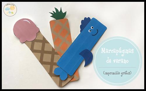 Marcapáginas de verano. Imprimible gratis para niños