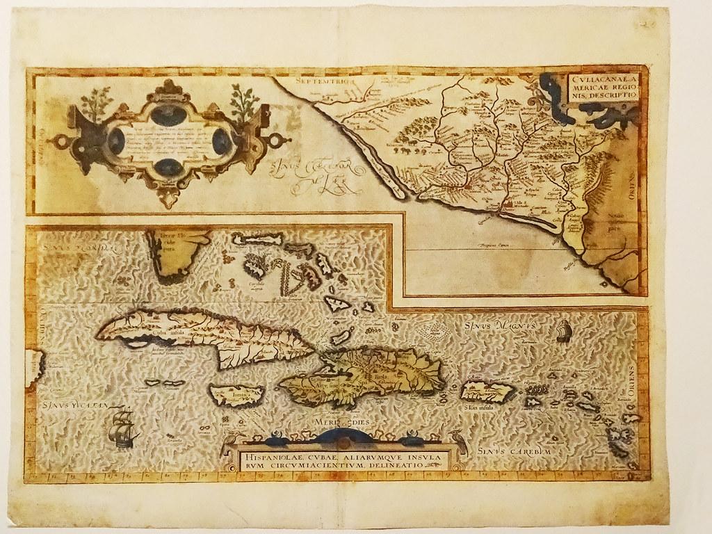 cartografia estampa mapa de Las Antillas 1579 1625 Abraham Ortelius Amberes Belgica Museo de America Madrid