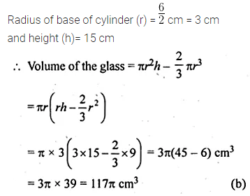 ML Aggarwal Class 10 Solutions for ICSE Maths Chapter 17 Mensuration MCQS Q32.1