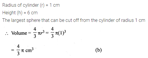 ML Aggarwal Class 10 Solutions for ICSE Maths Chapter 17 Mensuration MCQS Q20
