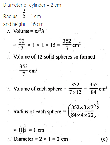 ML Aggarwal Class 10 Solutions for ICSE Maths Chapter 17 Mensuration MCQS Q30