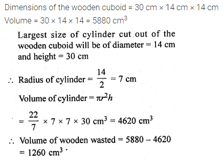 ML Aggarwal Class 10 Solutions for ICSE Maths Chapter 17 Mensuration Chapter Test Q2