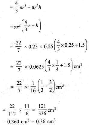 ML Aggarwal Class 10 Solutions for ICSE Maths Chapter 17 Mensuration Chapter Test Q8.1