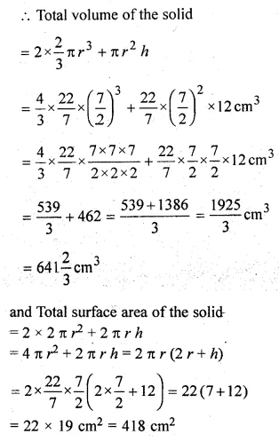 ML Aggarwal Class 10 Solutions for ICSE Maths Chapter 17 Mensuration Chapter Test Q9.1