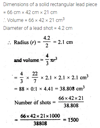 ML Aggarwal Class 10 Solutions for ICSE Maths Chapter 17 Mensuration Chapter Test Q17