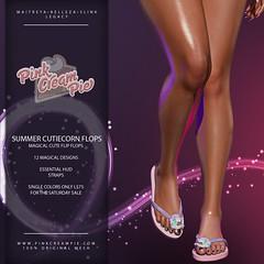 Summer Cutiecorn Flip Flops