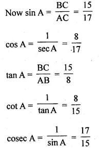 ML Aggarwal Class 10 Solutions for ICSE Maths Chapter 18 Trigonometric Identities Ex 18 Q2.1