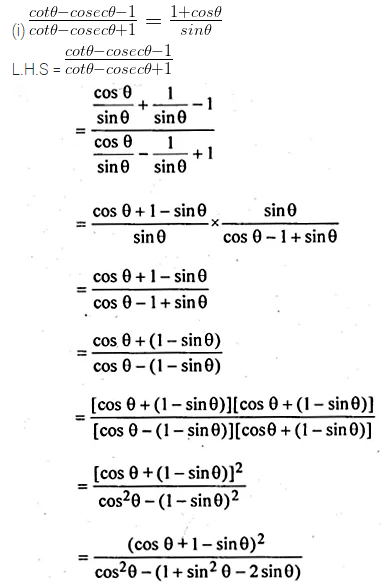 ML Aggarwal Class 10 Solutions for ICSE Maths Chapter 18 Trigonometric Identities Ex 18 Q27