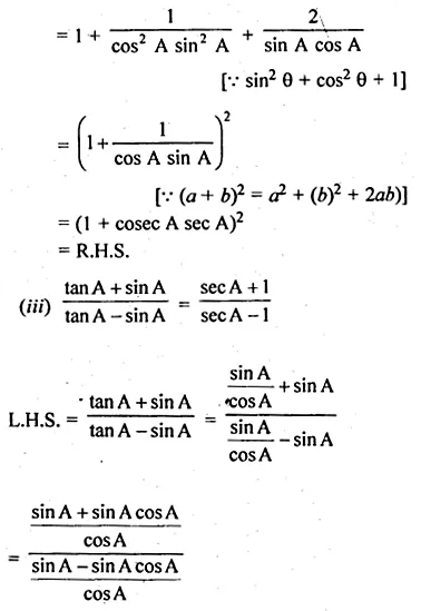 ML Aggarwal Class 10 Solutions for ICSE Maths Chapter 18 Trigonometric Identities Ex 18 Q30.2