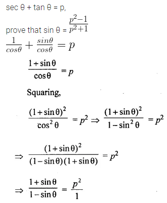 ML Aggarwal Class 10 Solutions for ICSE Maths Chapter 18 Trigonometric Identities Chapter Test Q13