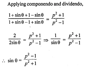 ML Aggarwal Class 10 Solutions for ICSE Maths Chapter 18 Trigonometric Identities Chapter Test Q13.1
